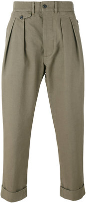 Wooster + Lardini cropped chino trousers
