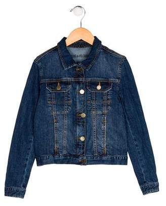Zadig & Voltaire Girls' Denim Collared Jacket