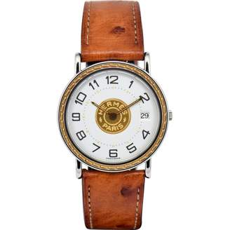 Hermes Sellier Gold gold and steel Watches