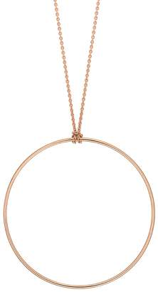 ginette_ny Circle Chain Necklace - Rose Gold