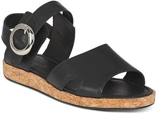 Whistles Women's Maddox Leather & Cork Ankle Strap Sandals