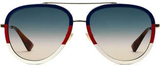 1fab66cfeaf Gucci Two Tone Sunglasses - ShopStyle