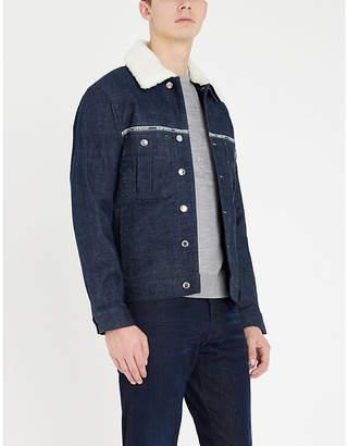 Emporio Armani Embossed branding virgin wool jumper