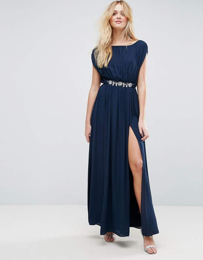 Asos ASOS Embellished Waist Maxi Dress
