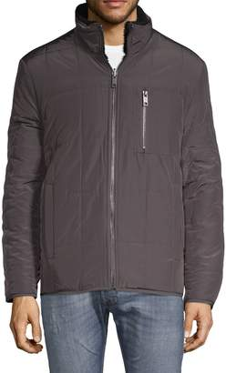 Andrew Marc Nixon Faux Fur Quilted Jacket