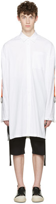 D.Gnak by Kang.D White Oversized Straps & Rings Shirt $370 thestylecure.com