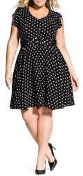 City Chic Eliza Fit & Flare Dress