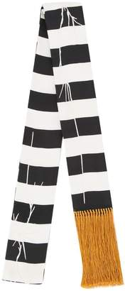 Haider Ackermann striped skinny scarf