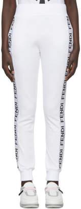 Fendi White Roma Band Lounge Pants