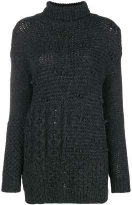 Simone Rocha patchwork turtleneck sweater