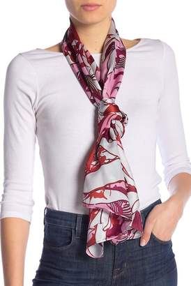 Vince Camuto Illustrated Floral Silk Scarf
