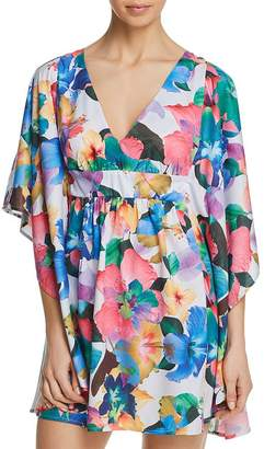 Nanette Lepore Technicolor Tropical Caftan Swim Cover-Up