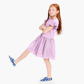 Girls' knit and eyelet dress $69.50 thestylecure.com