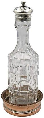 One Kings Lane Vintage Crystal & Sterling Shaker with Coaster - Rose Victoria