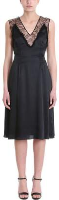 Rochas Flared Lace-trimmed Dress