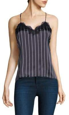 CAMI NYC Racer Stripe Silk Lace Top