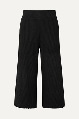calé - Gigi Ribbed Stretch-knit Culottes - Black