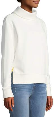 Varley Simon Ribbed Side-Zip Sweater