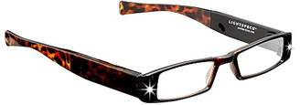 LIGHTSPECS Men's Rechargeable Ultra Bright LED Lighted Lightweight Rectangular Reading Glasses