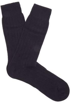 Pantherella Waddington Cashmere Blend Socks - Mens - Navy