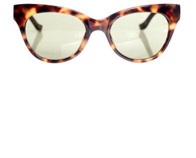 THE ROW Tortoiseshell and leather sunglasses