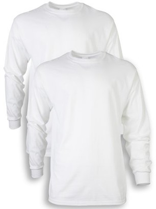 Gildan Men's and Men's Big Ultra Cotton Long Sleeve T-Shirt, 2-Pack, up to size 5XL
