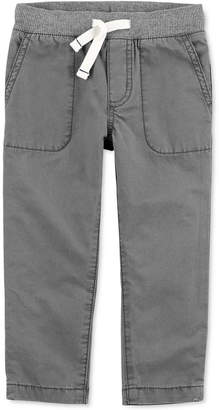 Carter's Baby Boys Ribbed-Waist Cotton Pants