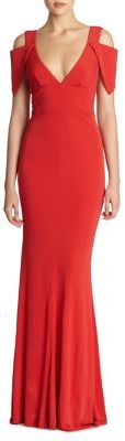 ABS Jersey Triangle-Sleeve Gown $390 thestylecure.com