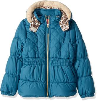 Pink Platinum Big Girls' Cool Quilted Puffer