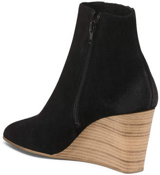 Made In Portugal Suede Wedge Booties