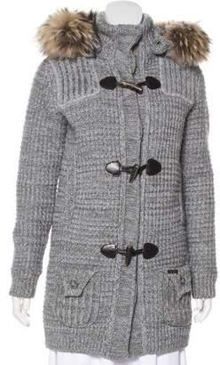 Bark Duffle Fur-Trimmed Coat