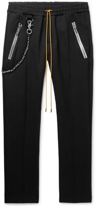 Rhude Traxedo Tapered Tech-Jersey Drawstring Trousers - Men - Black