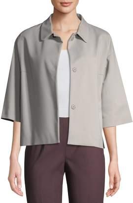 Piazza Sempione Women's Collared Cotton-Blend Jacket