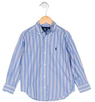 Ralph Lauren Boys' Stripe Button-Up Shirt