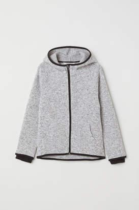 H&M Knitted fleece jacket - Black