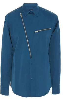 Givenchy Zip-Detailed Cotton-Poplin Shirt