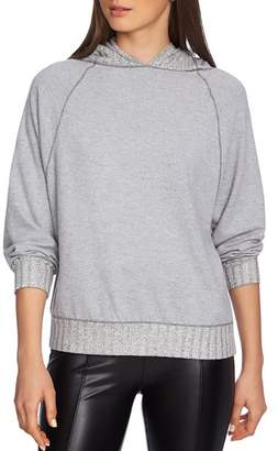 1 STATE 1.STATE Ribbed Hooded Sweatshirt