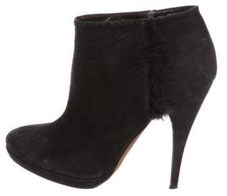 Nina Ricci Leather Round-Toe Ankle Boots
