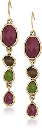 The Sak Stone Linear Drop Earrings