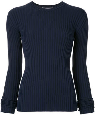 Le Ciel Bleu ribbed knit top