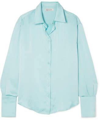 ANNA QUAN - Lana Satin Shirt - Light blue