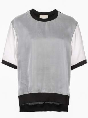 Nicole Miller sheer layered T-shirt