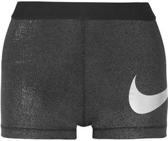 Nike Sparkle Pro Cool Dri-fit Stretch-lamé Shorts