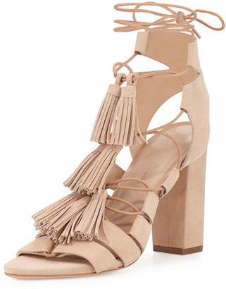Loeffler Randall Luz Suede Lace-Up Sandal $395 thestylecure.com