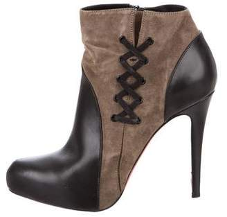 Christian Louboutin Leather Covered 120 Booties