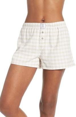 PJ Salvage Gingham Pajama Shorts