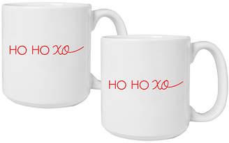 Cathy's Concepts Cathys Concepts Hoho Ho Xo Large Coffee Mugs, Set of 2