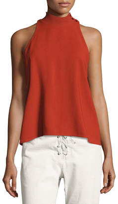 A.L.C. Olympia Mock-Neck Sleeveless Top, Brick