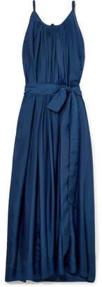 Kalita - Genevieve Pleated Silk-habotai Maxi Dress - Teal