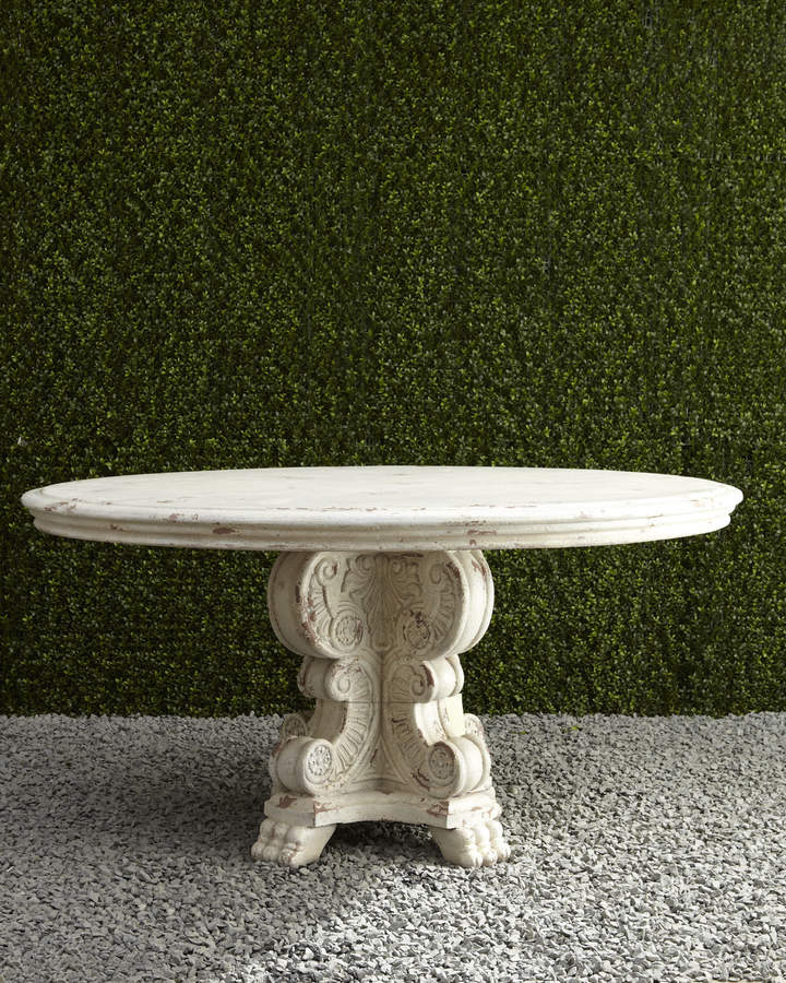 """Horchow 60"""" Round Outdoor Table"""